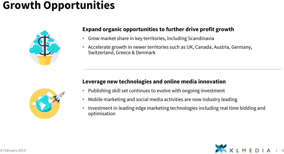 technologies and online media innovation Publishing skill set continues to evolve with ongoing investment Mobile marketing and social