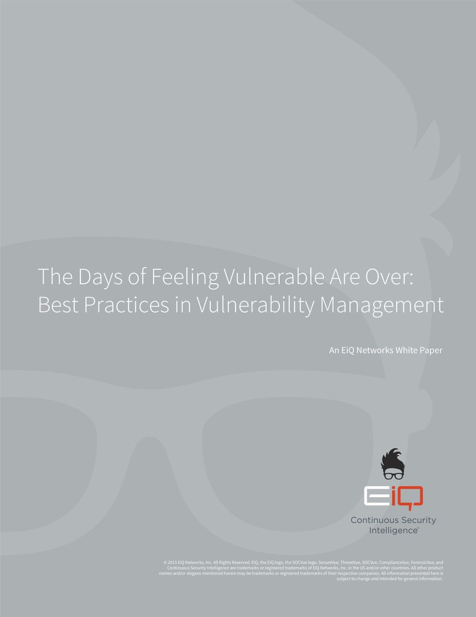 Practices in Vulnerability