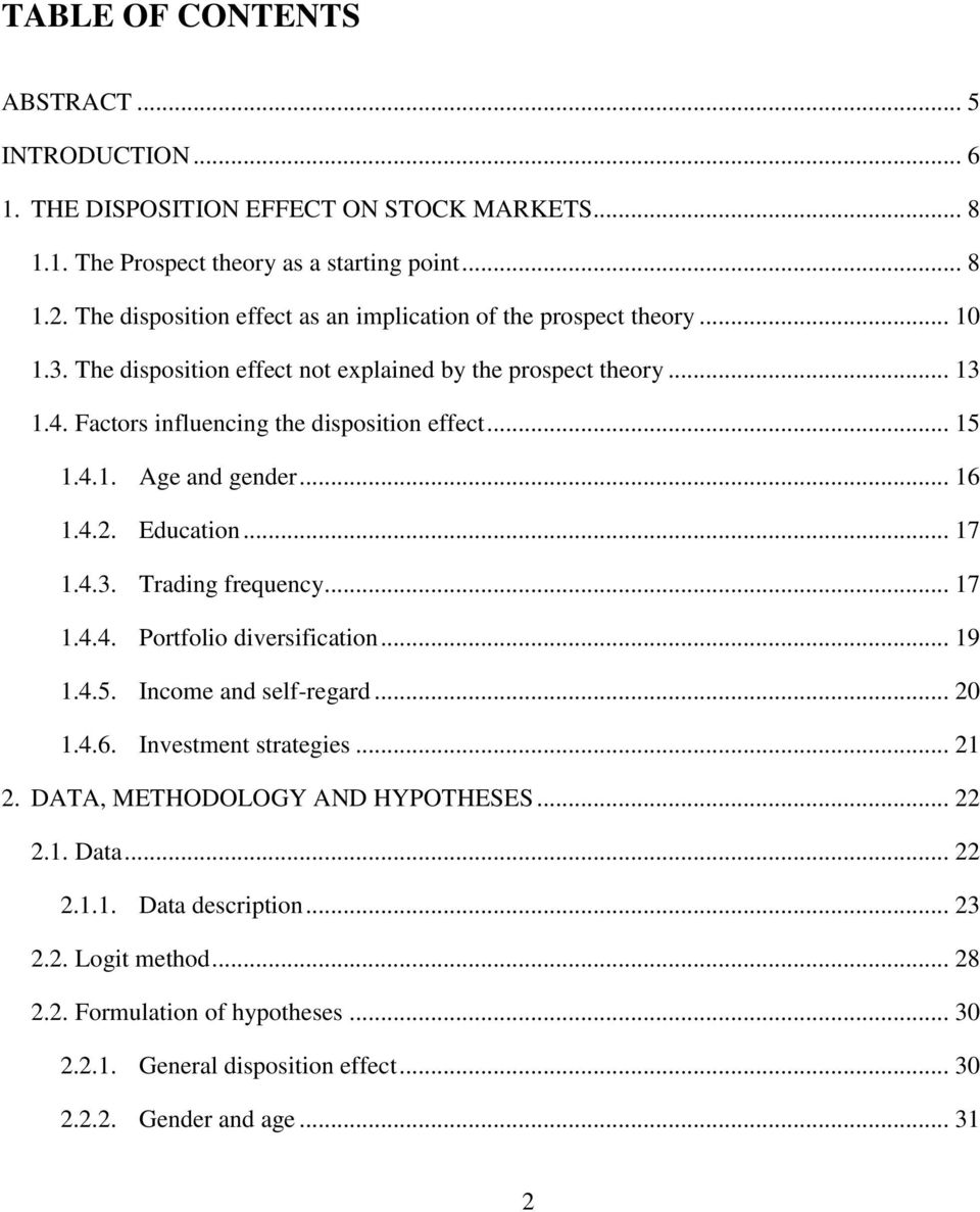 master thesis high frequency trading