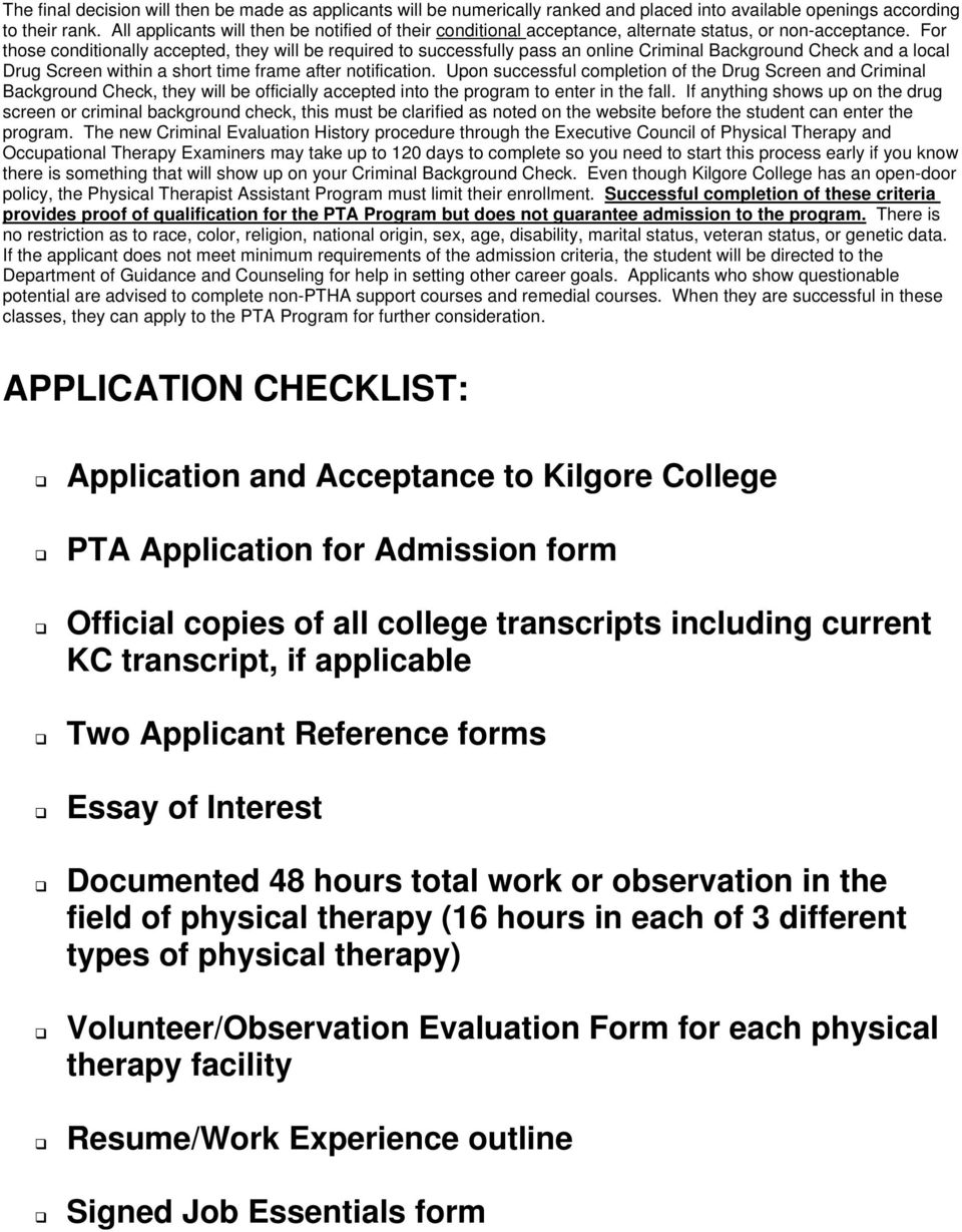 Occupational Therapy kilgore college online curriculum subjects available