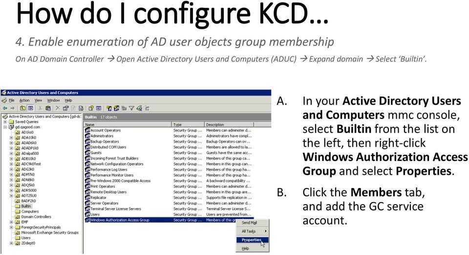 Configure single sign on access to resource servers pdf - Console active directory ...