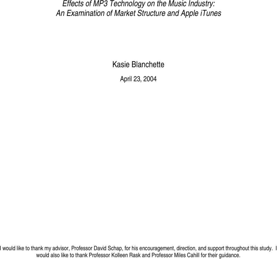 an examination of the music industry Institutional scholarship music, violence, and the first amendment: an examination of the role of government in the regulation of the music industry.