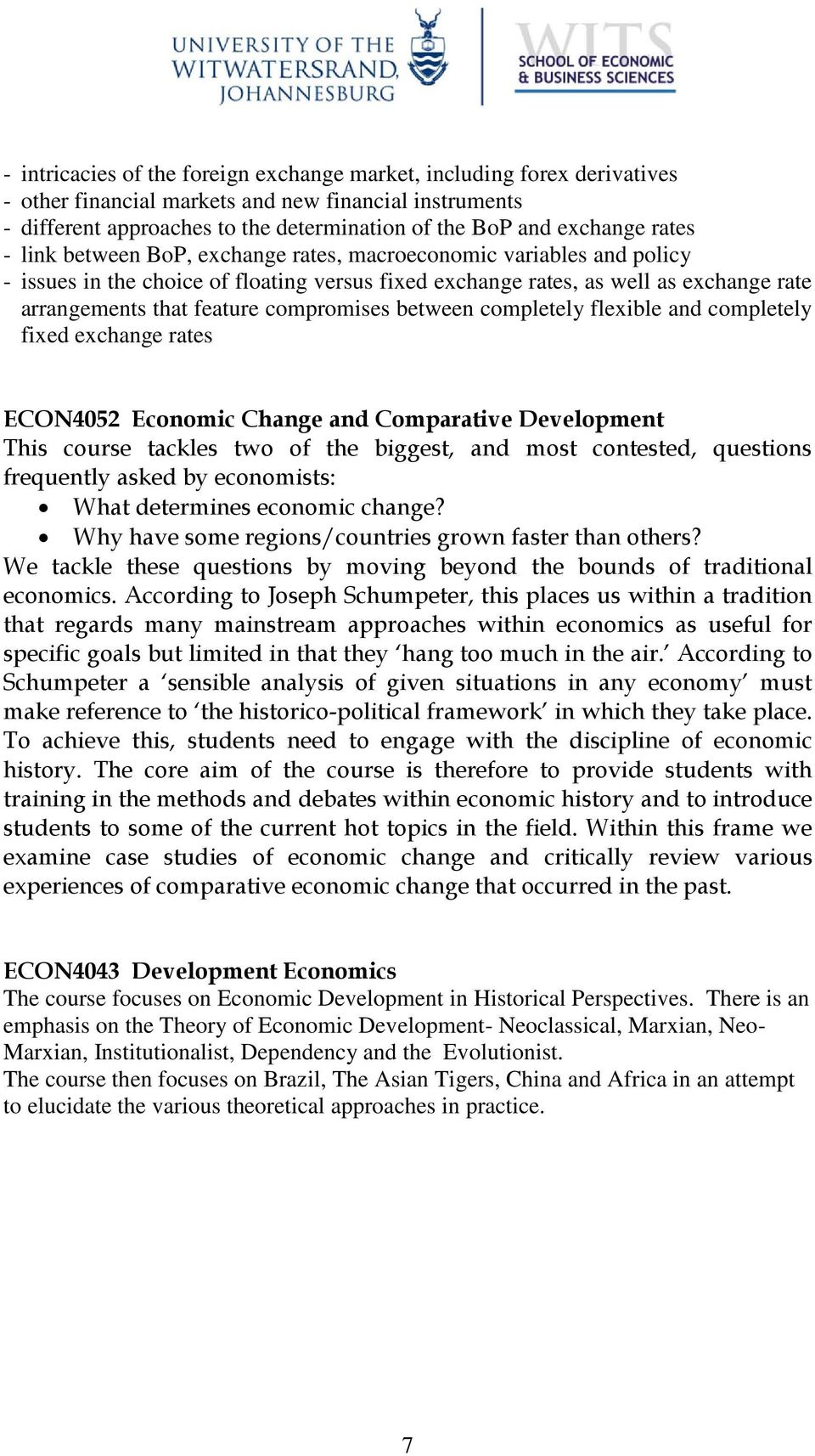 Examples List on Economic Globalization
