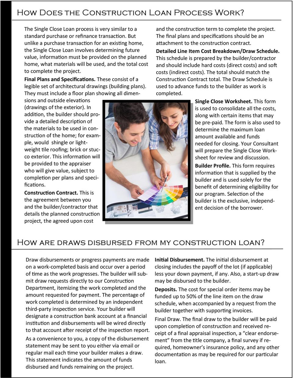 A Consumer Guide To Construction Financing Single Close