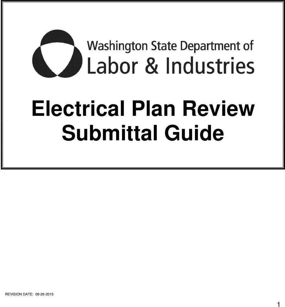 electrical plan review submittal guide