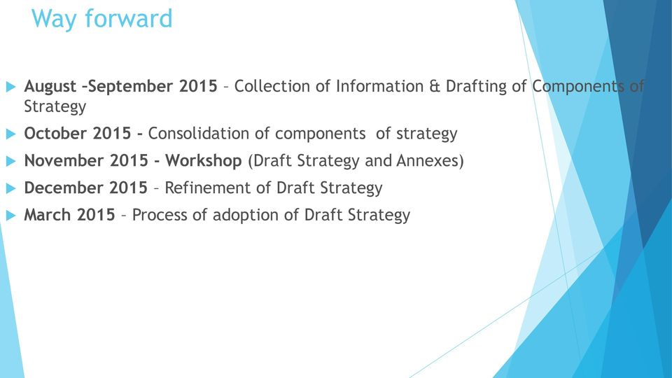 strategy November 2015 - Workshop (Draft Strategy and Annexes) December