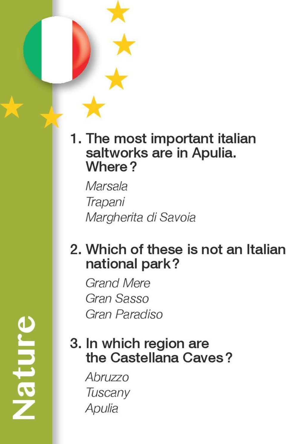 Which of these is not an Italian national park?