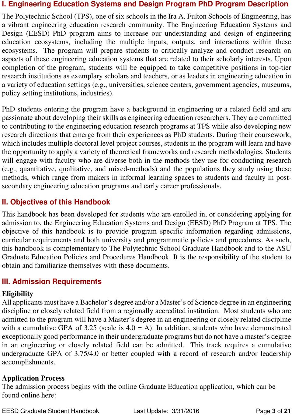 phd in engineering education systems and design eesd