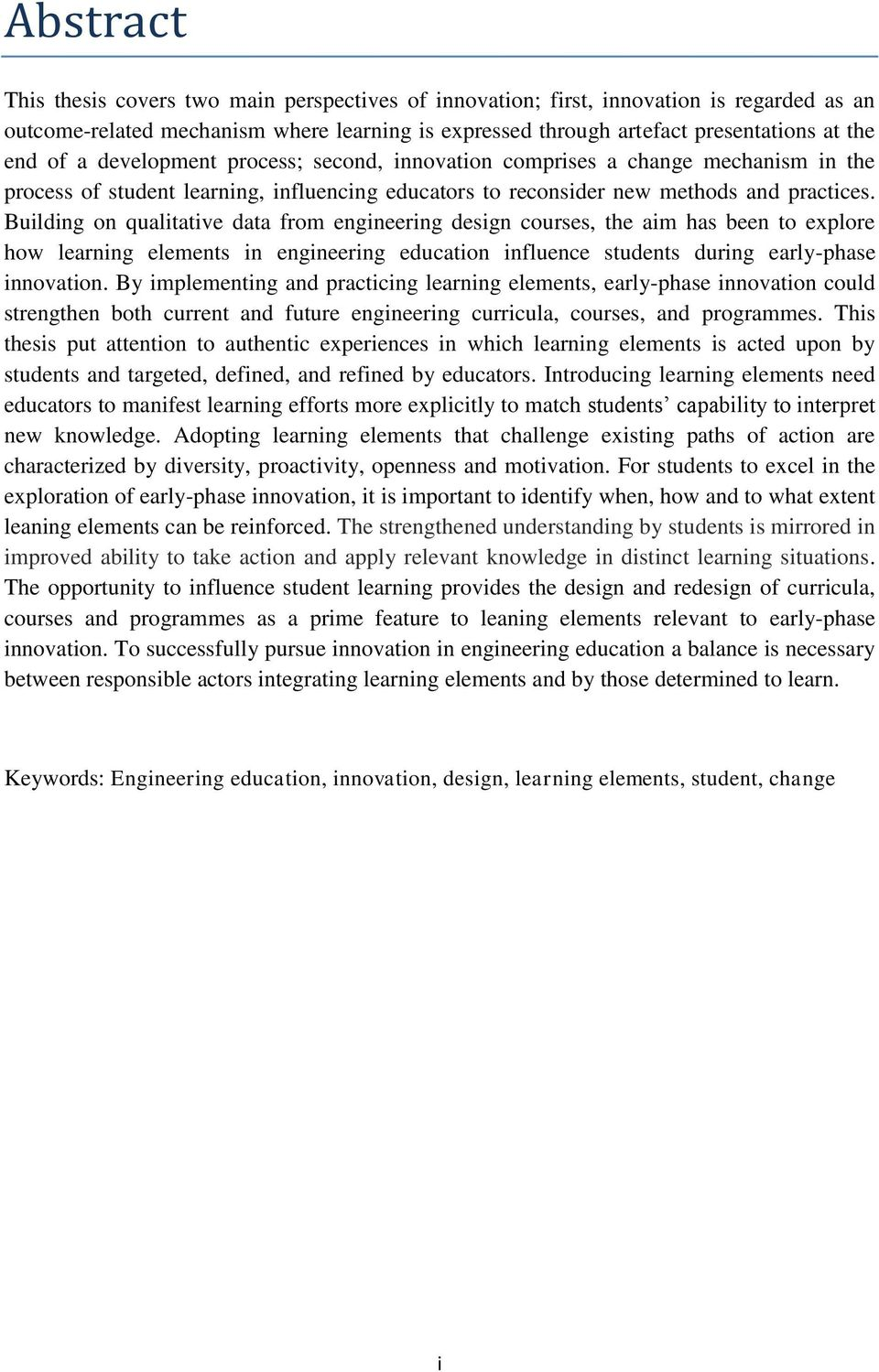 importance of innovation in education pdf