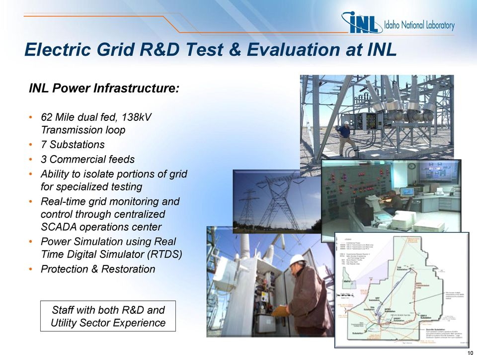 Real-time grid monitoring and control through centralized SCADA operations center Power Simulation using