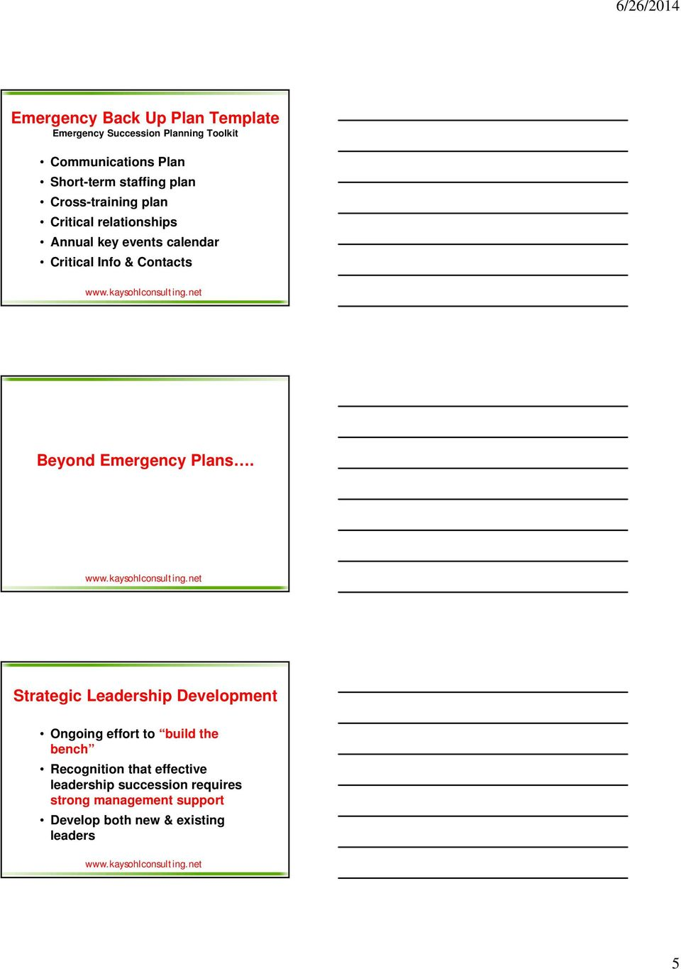 emergency succession plan template - succession planning why talk about succession planning