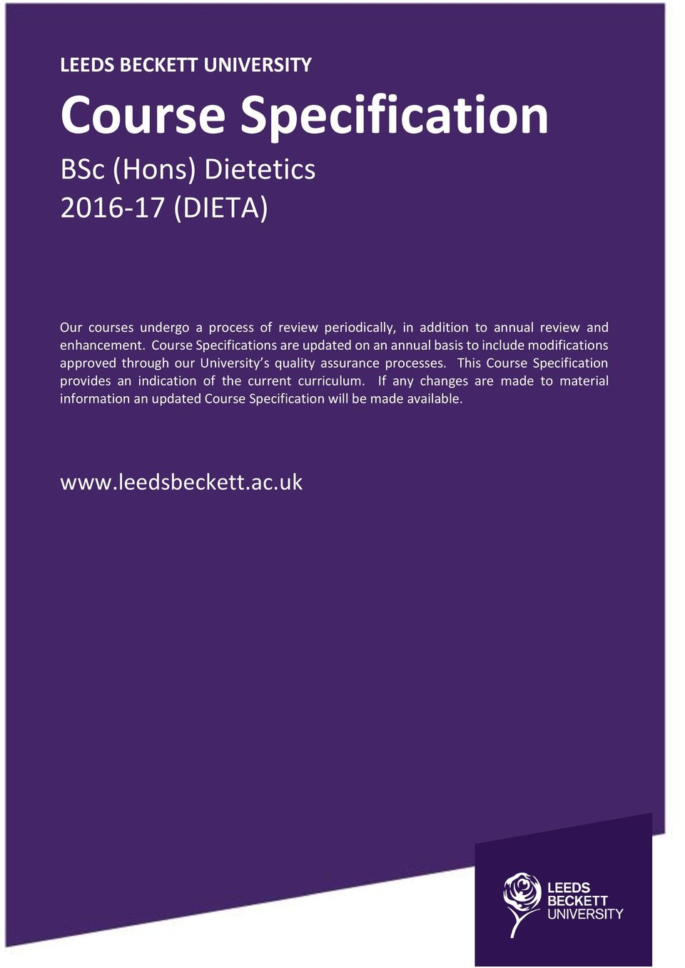 Dietetics subjects in university
