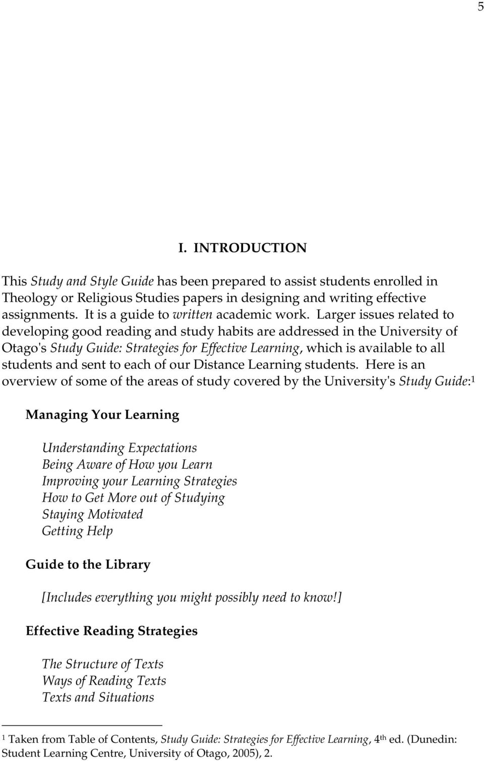 thesis on reading strategies