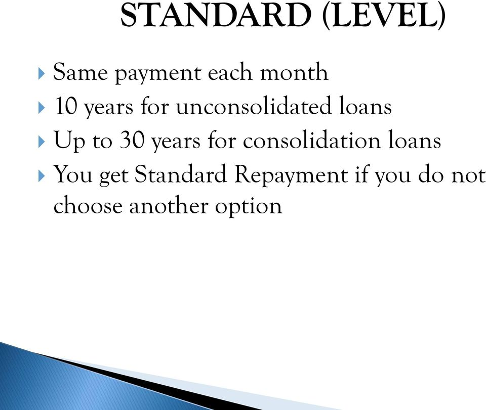 years for consolidation loans You get