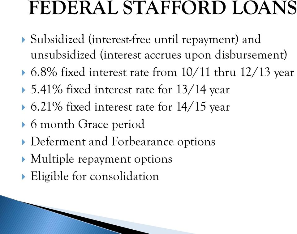 41% fixed interest rate for 13/14 year 6.