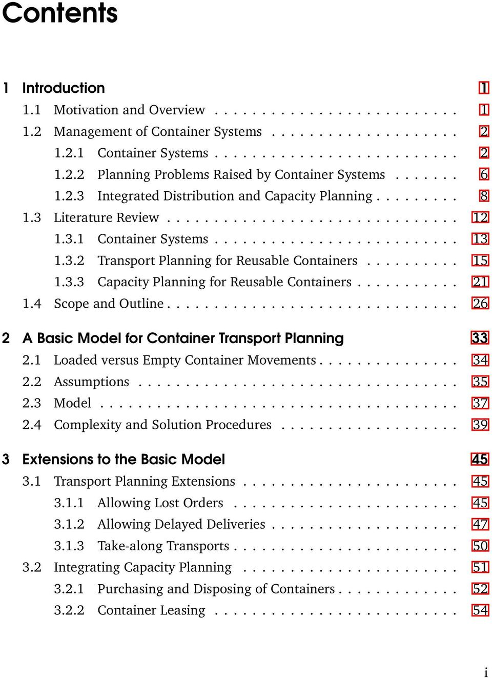 Capacity planning literature review