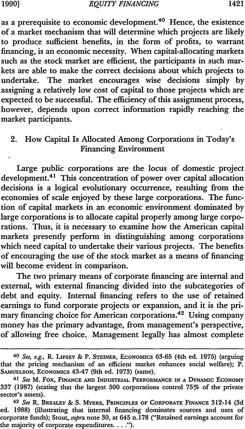 principles of corporate finance 7 Readings lecture notes recitations  principles of corporate finance 7th ed irwin/mcgraw hill.