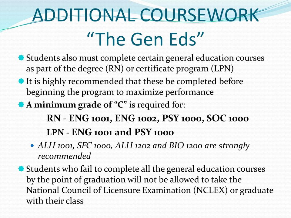 fail coursework and/or examination ungraded Scale the student is awarded a final grade at the end of the semester for each credit course each grade will appear on the student's record as a letter grade and numerical equivalent as follows.