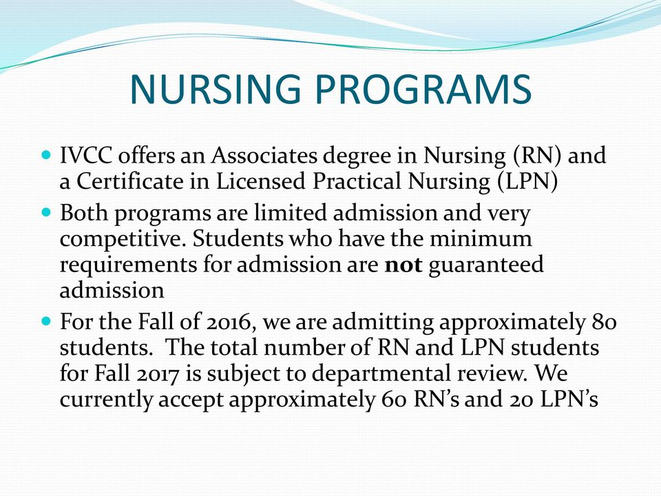 Licensed Practical Nurse (LPN) college finance subjects