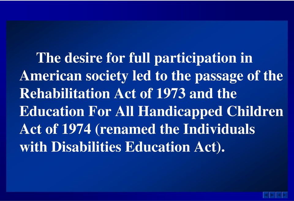 individuals with disabilities education act essay Welcome to the us department of education's individuals with disabilities education act (idea) website, which brings together idea information and resources from the department and our grantees.