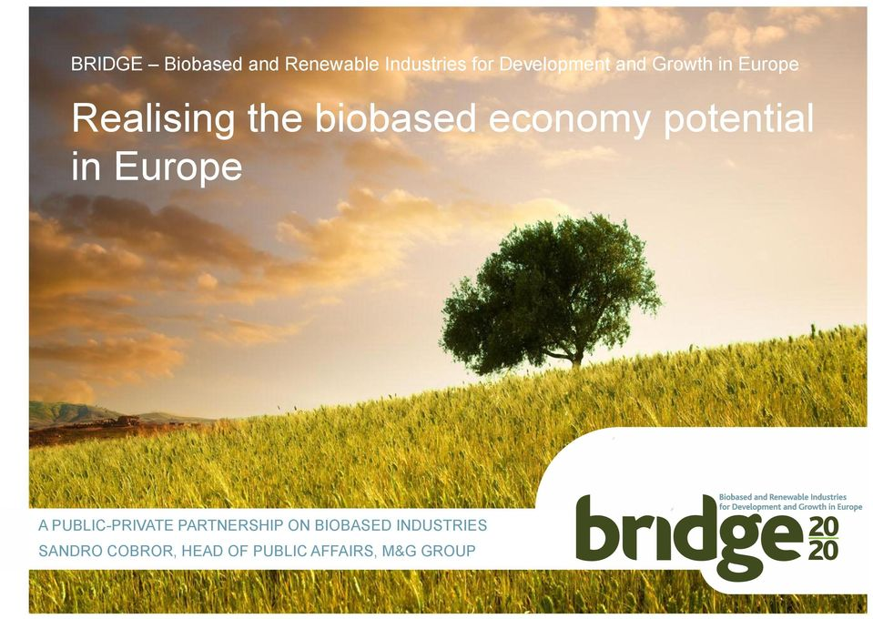 potential in Europe A PUBLIC-PRIVATE PARTNERSHIP ON