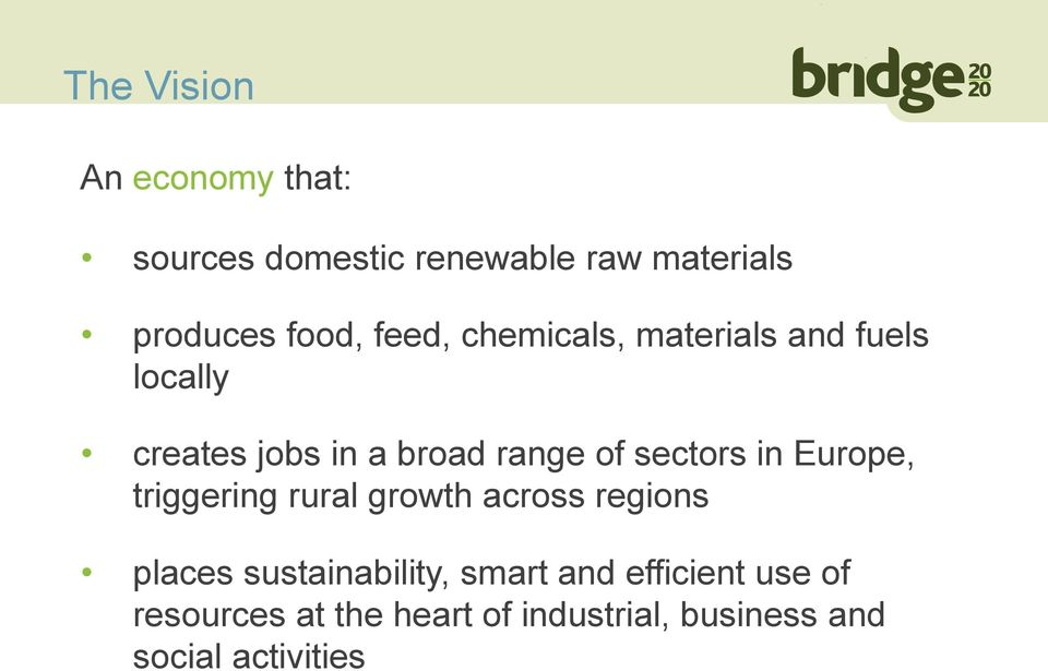 sectors in Europe, triggering rural growth across regions places sustainability,