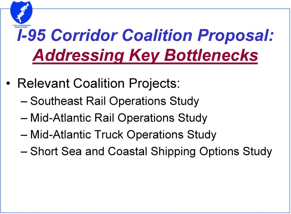 Operations Study Mid-Atlantic Rail Operations Study
