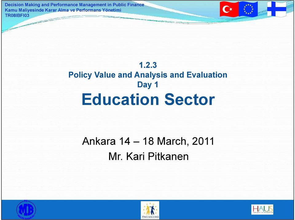 1 Education Sector Ankara