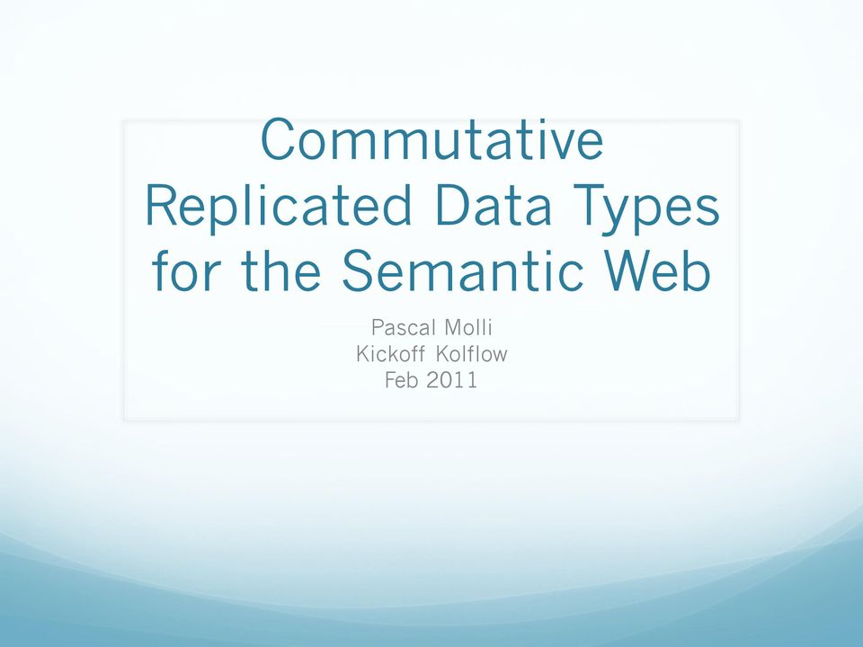 Semantic Web Pascal