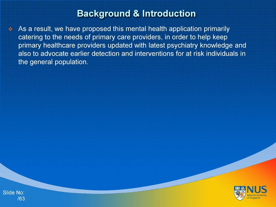 primary healthcare providers updated with latest psychiatry knowledge and also to