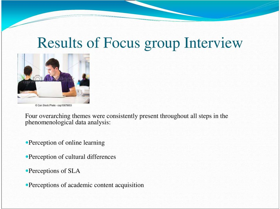 data analysis: Perception of online learning Perception of cultural