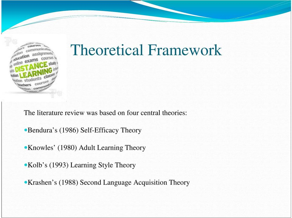 Knowles (1980) Adult Learning Theory Kolb s (1993) Learning