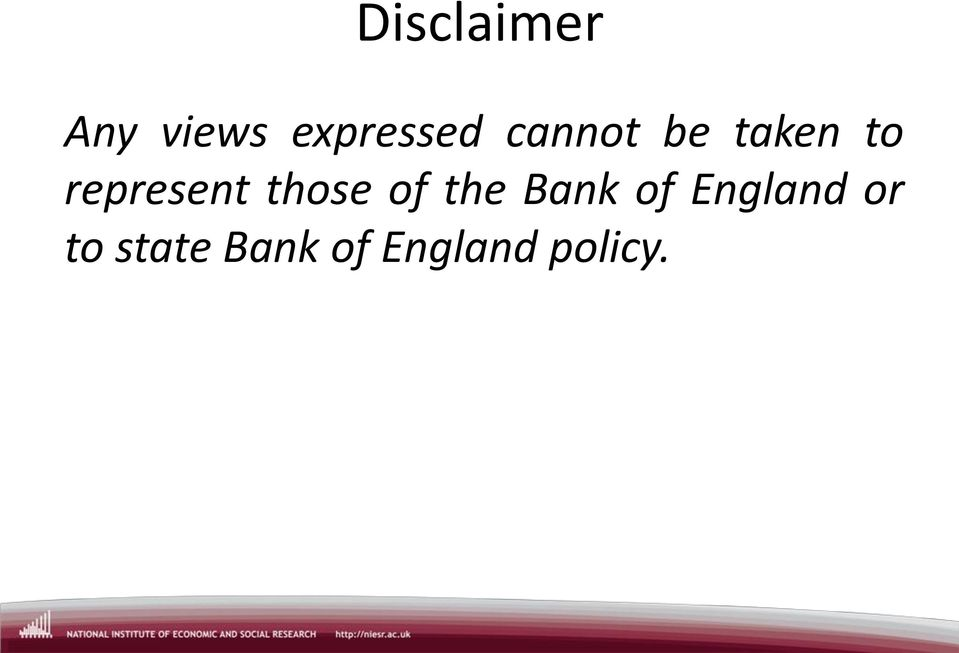 those of the Bank of England