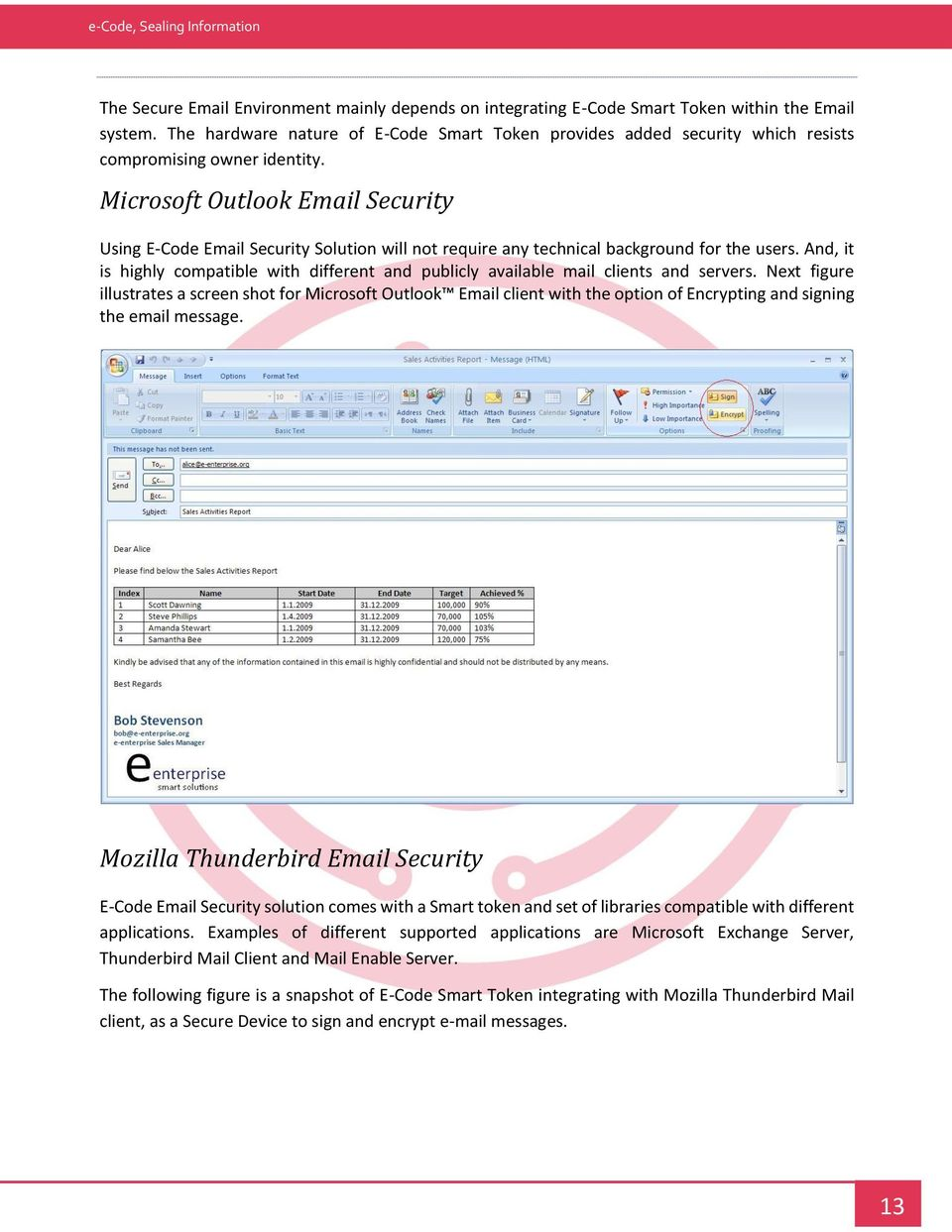 Microsoft Outlook Email Security Using E-Code Email Security Solution will not require any technical background for the users.