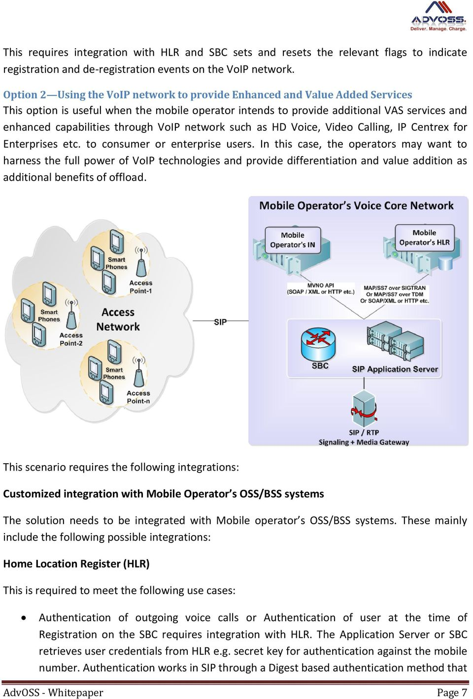 through VoIP network such as HD Voice, Video Calling, IP Centrex for Enterprises etc. to consumer or enterprise users.