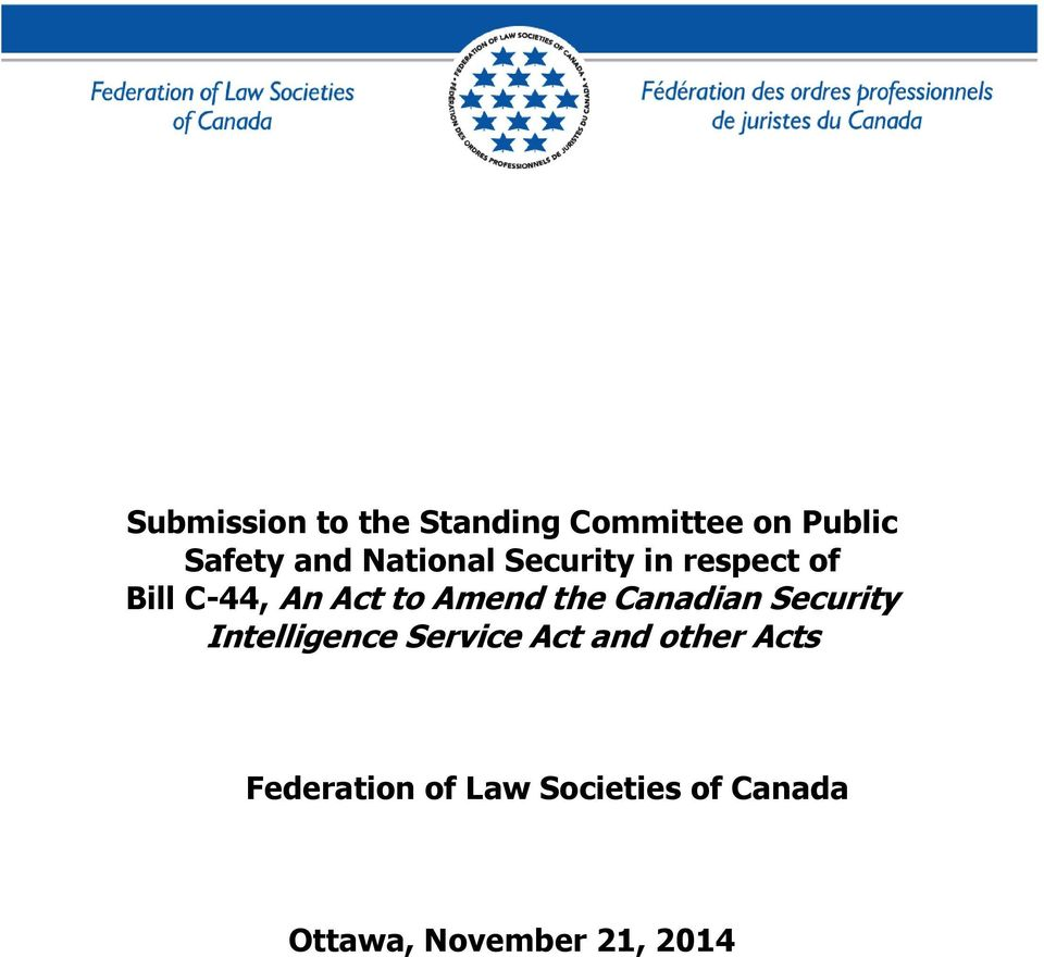 the Canadian Security Intelligence Service Act and other