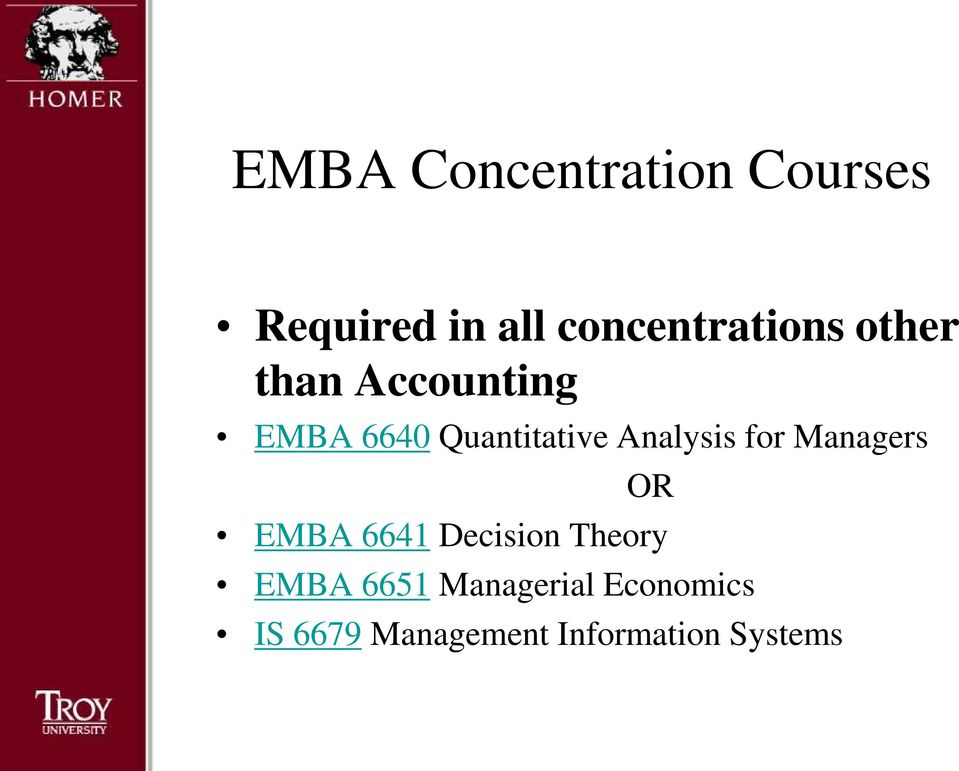 Quantitative Analysis for Managers OR EMBA 6641