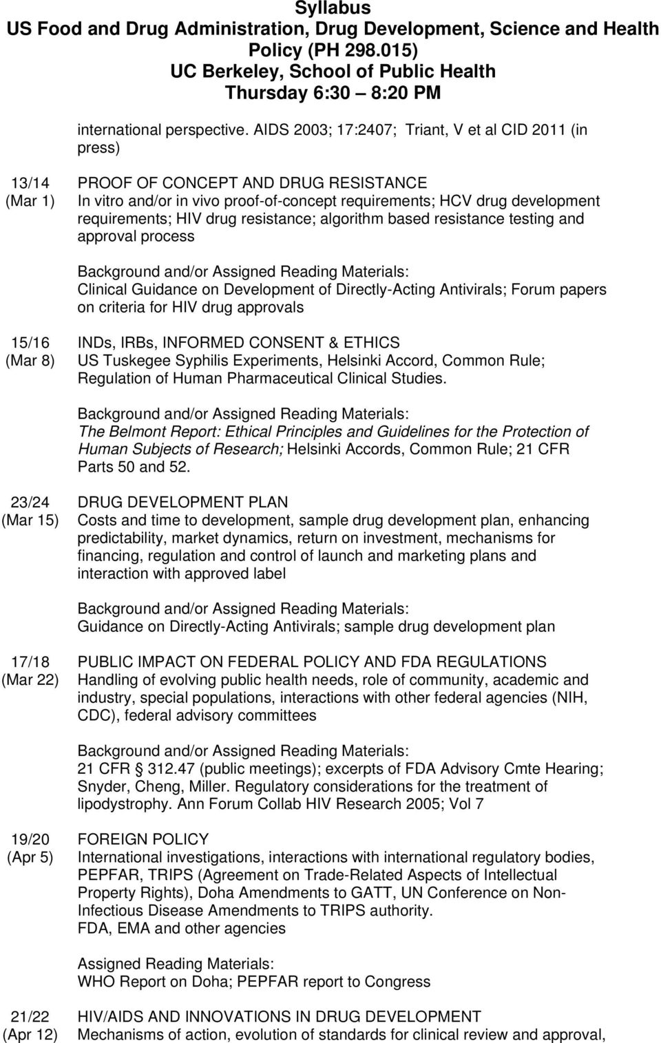 HIV drug resistance; algorithm based resistance testing and approval process Clinical Guidance on Development of Directly-Acting Antivirals; Forum papers on criteria for HIV drug approvals 15/16 (Mar