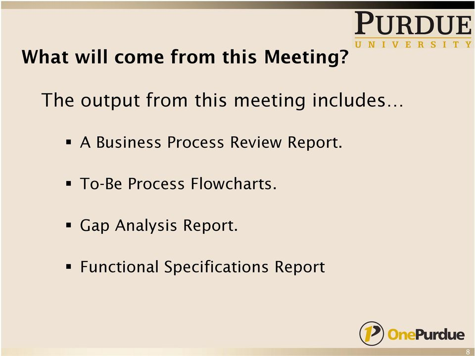 Business Process Review Report.