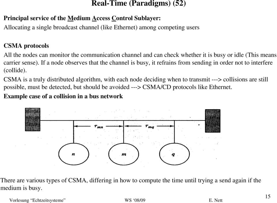 If a node observes that the channel is busy, it refrains from sending in order not to interfere (collide).