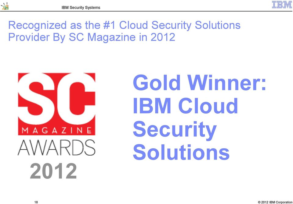SC Magazine in 2012 2012 Gold