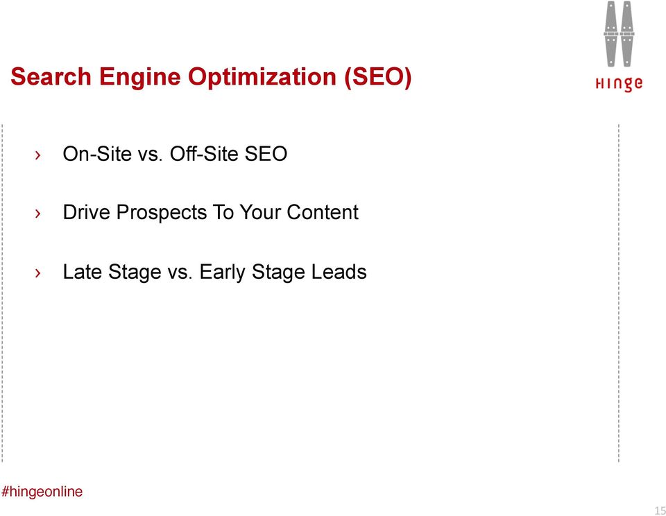 Off-Site SEO Drive Prospects To