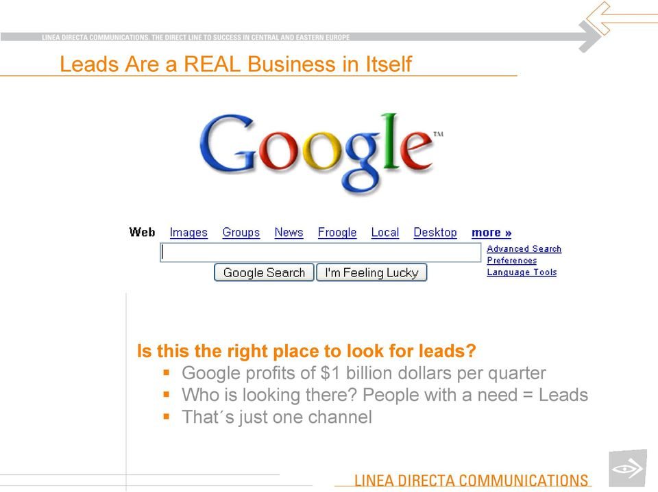 Google profits of $1 billion dollars per quarter