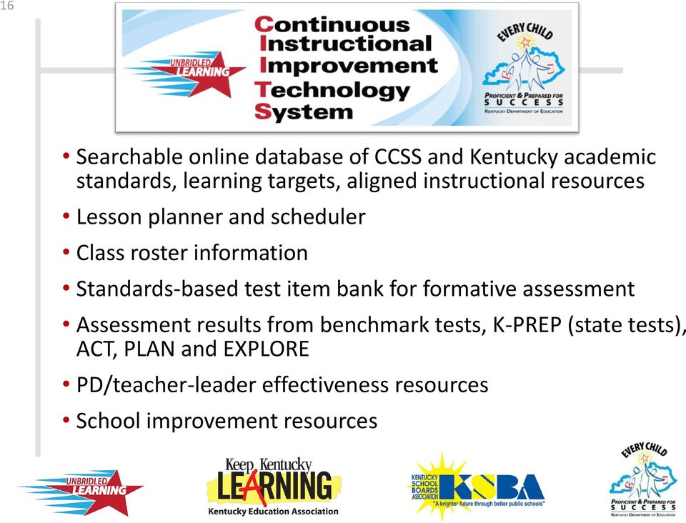 test item bank for formative assessment Assessment results from benchmark tests, K-PREP (state