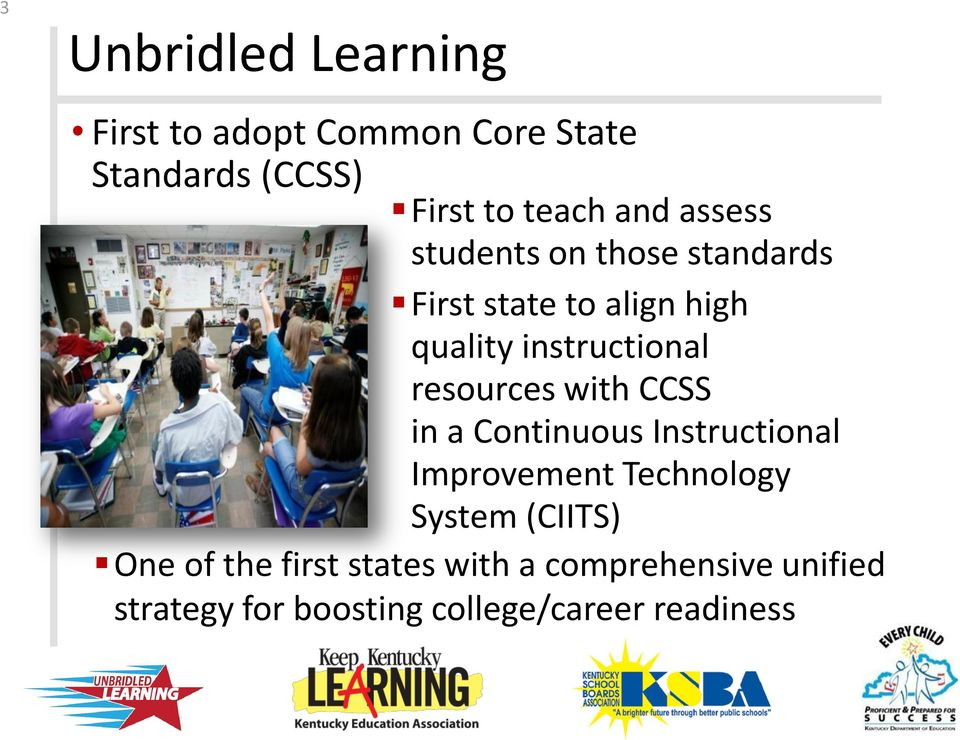 resources with CCSS in a Continuous Instructional Improvement Technology System (CIITS)