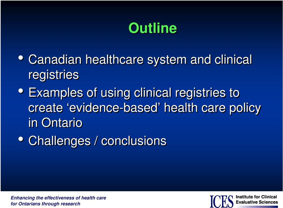 clinical registries to create