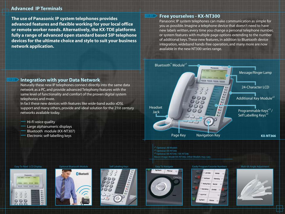 Free yourselves - KX-NT300 Panasonic IP system telephones can make communication as simple for you as possible.