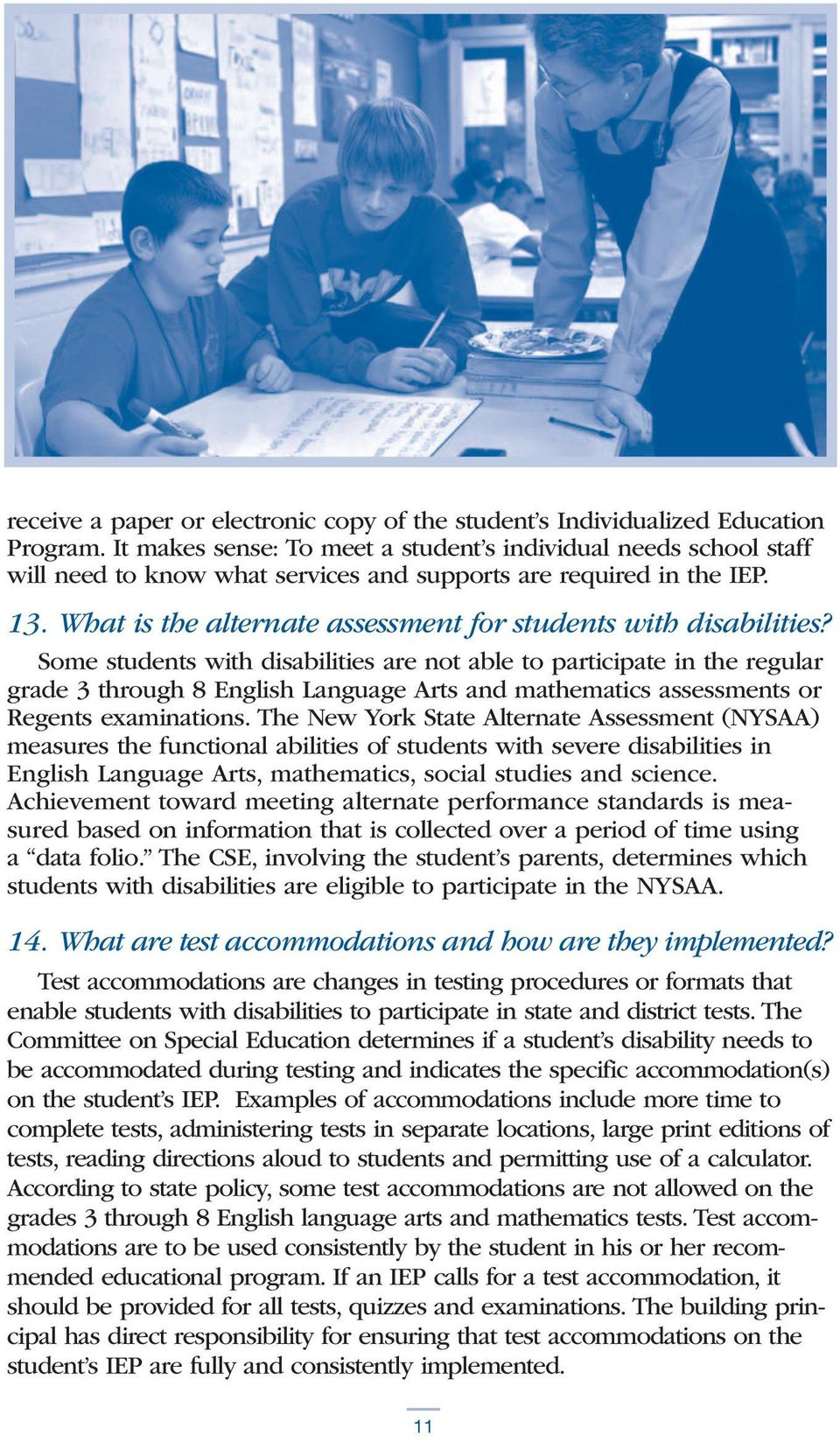 What is the alternate assessment for students with disabilities?