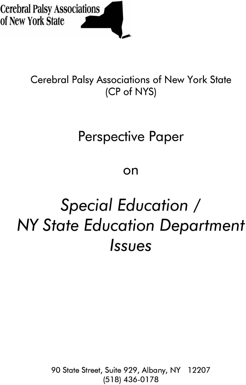 Education / NY State Education Department Issues