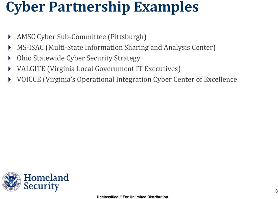 Statewide Cyber Security Strategy VALGITE (Virginia Local Government IT